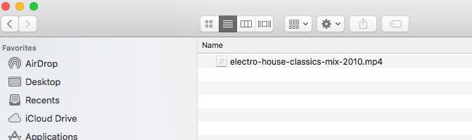 Naming your DJ mix file for upload