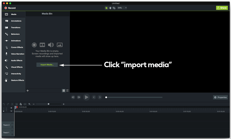 Importing audio to your video software